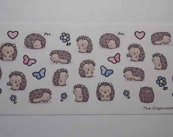 Hedgehog Stickers  / Cute Stickers / Planner Stickers for your Erin Condren