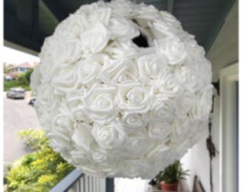 Wedding Pinata Guest Book Alternative Medium White Roses