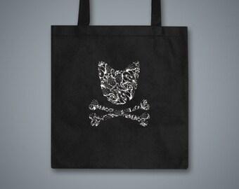 Toxic Kitty Black Tote Bag
