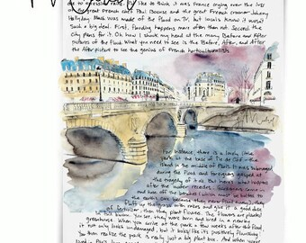 Seine: Paris Letters, March letter about the Seine and flooding