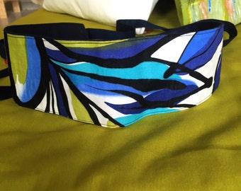 Obi belt - Sea tones  - Reversible- Navy Blue- Sash - Fabric Belt- by MiXeDesigns lab
