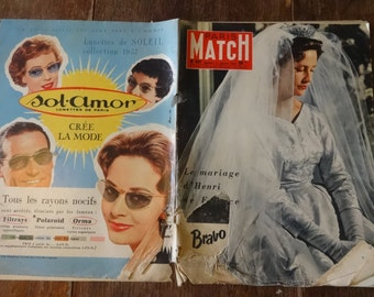 Vintage French Paris Match Magazine No 431 d'Henri de France Special circa 13 Juillet July 1957 / English Shop