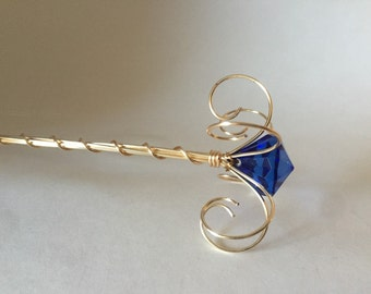 sapphire jewel fairy wand