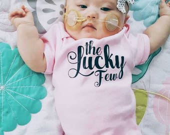 The Lucky Few Onesie, The Lucky Few,Down Syndrome Awareness, T21 Awareness, Trisomy 21 Awareness, Baby Girl Coming Home Outfit, Baby Girl