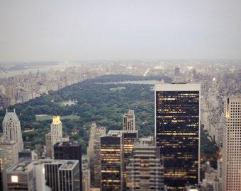 Central Park Photo - NYC Photography - Vintage, Dreamy - New York City Skyline Photo - Vintage NYC Photo