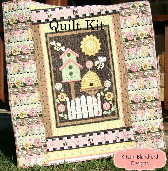 Sale panel quilt kit quick easy fun beginner project let it like this item solutioingenieria Images