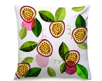 Tooty fruity Passionfruity cushion (cover only)