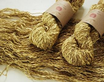 COTTON LINEN yarn~ LINCOT~ Lemon Tree ~ summer yarn, knitting yarn, crochet, weaving, texture, linen, flax, rustic, cotton