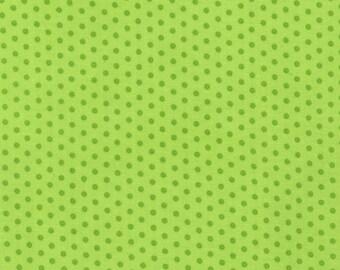 Spot On Citron (Chartreuse) Mini Dots From Robert Kaufman Fabric