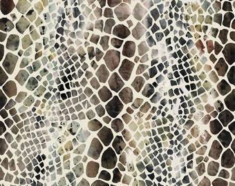 Snake Skin - Ceramic Decals- Enamel Decal - Fusible Decal - Glass Fusing Decal ~ Waterslide Decal - 85231