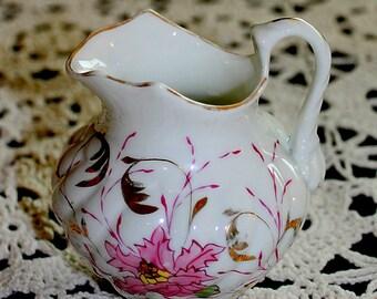 Vintage China Creamer Pink Floral