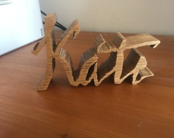 Custom hand-made name/ word pieces. Made from Australian Timber.