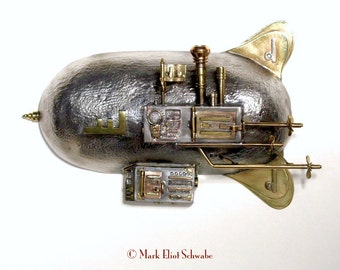 Royal Diplomatic Airship interactive SteamPunk sculpture