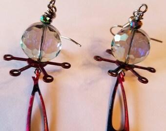 Crystal Atomic Earrings