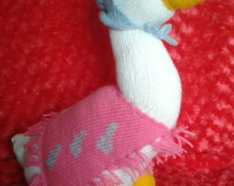 Knitted jemima puddle duck
