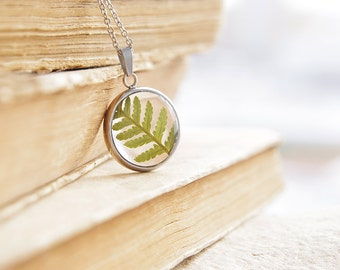 Real fern resin necklace | Pressed Flower Jewelry necklace | Real fern in resin | Nature inspired gift for her | Woodland jewery into Forest