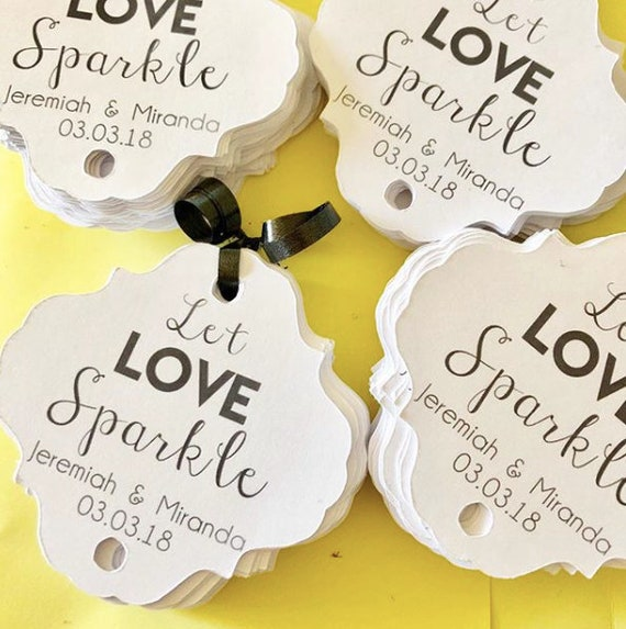 Let Love Sparkle Sparkler Tag, set of 12, custom colors, sparkler sendoff, Sparkler Sleeves, Let Love Sparkle, Wedding Favors