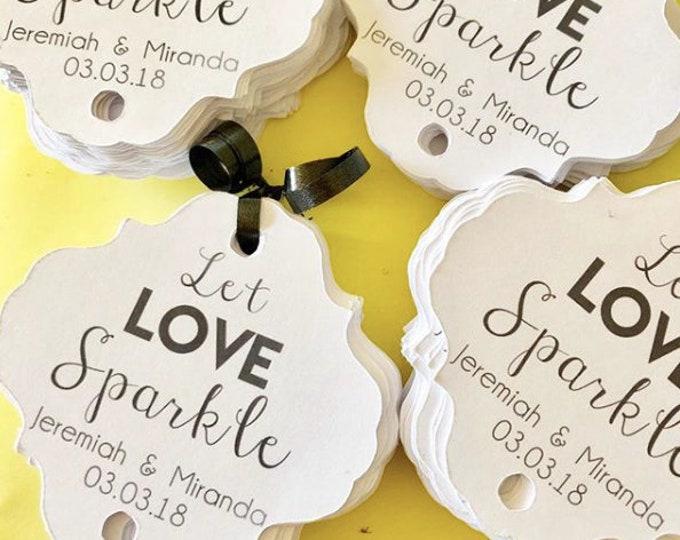 Let Love Sparkle Sparkler Tag, set of 12, custom colors, sparkler sendoff, Sparkler Sleeves, Let Love Sparkle, Wedding Favors
