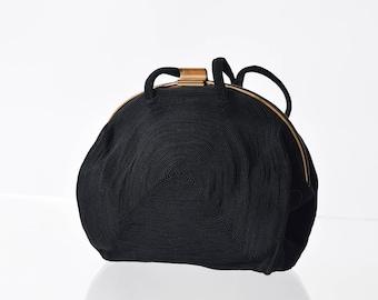 Corde Style Evening Bag Vintage Black Small Purse