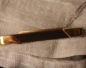 Rare Vintage McCurrach Patents Pending Glass Tie Clip