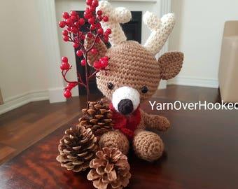 Amigurumi Deer/ Crochet Deer/ Stuffed Animals/ Children Toys/ Handmade Toys/ Deer/ Christmas Gift/ Christmas Deer Toy/ Stuffed Animal Deer
