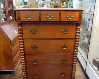 Cherry Wood highboy Dresser