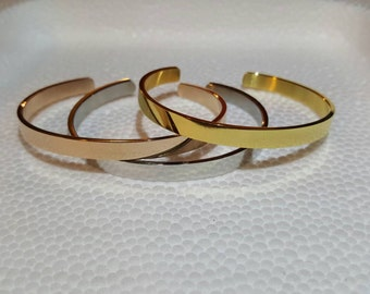 Women's Cuff Bracelet // Stackable Rose Gold,  Gold and Silver Cuff // Rose Gold Jewellery