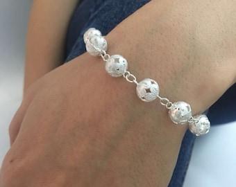 Margid Handmade Authentic Bracelet Sterling Silver 925 Silver Jewelry, Bracelet, Women gift Charm Bracelet Friendship Gift jewelry for women