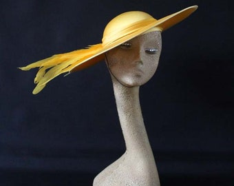 Vintage classic formal hat/Ascot, races,church, mother of the bride, Made in England
