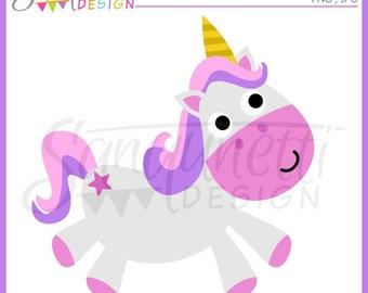 Unicorn clipart, horse clipart, fantasy clipart, instant download