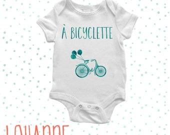 Baby Bodysuit - Bike - Body Bébé - A Bicyclette - Baby Cloth