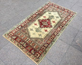 Vintage Carpet, Rugs,Vintage Rugs, Area Rug, Floor Carpet, Office Carpet, Kitchen Decor, Interior Carpet, Carpet Rug, 4.8 x 2.6 ft Woven Rug