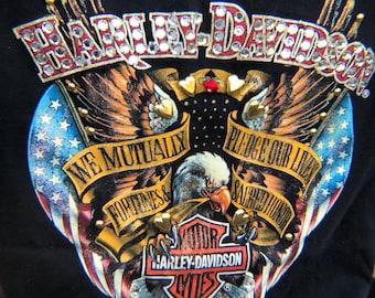 Vintage Harley Davidson and Rhinestone T-shirt