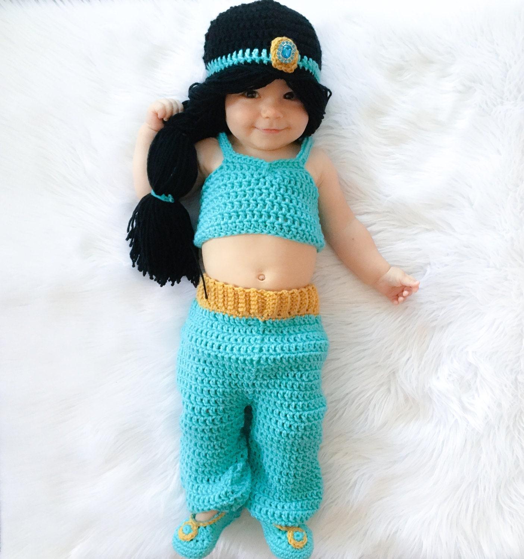 Princess Jasmine Inspired Costume/ Crochet Princess Jasmine