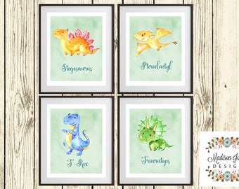 Beautiful Little Boy DINOSAURS WALL ART, Baby Boy Dinosaurs Wall Art, Baby Dinosaurs Boy Wall Decor, Instant Download, Digital Printable