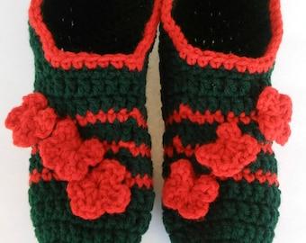 Crochet Slippers - Adult Crochet Slippers - Adult Slippers - Womens Slippers