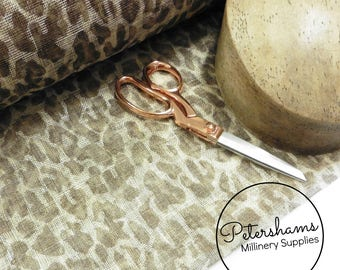 Leopard Print Sinamay Fabric for Millinery & Hat Making 1/2 metre - Light Brown