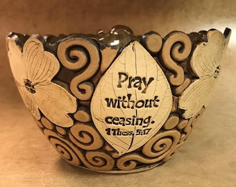 Large Scripture Dogwood Bowl 49