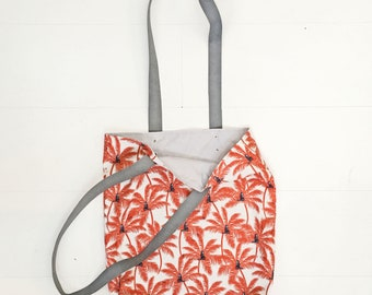Tote Bag - Monkeys and Palm Leaves