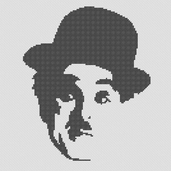 PATRÓN: Punto de Cruz de Charlie Chaplin