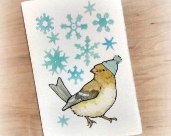 Winter Goldfinch Notecard