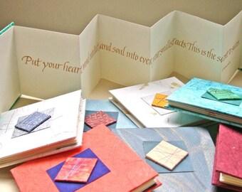 Livre de citation calligraphie personnalisé avec votre choix de régime de devis et la couleur - à la main, gravé à l'encre or