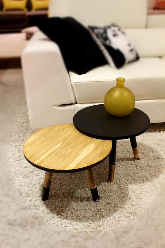 Scandinavian Design Side Tables: Pair Of Side Tables/Scandinavian Design/ Custom Made