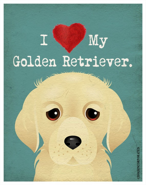 I Love My Golden Retriever I Heart My Golden I Love My Dog