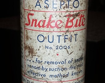 Vintage Snake Bite Kit Tin