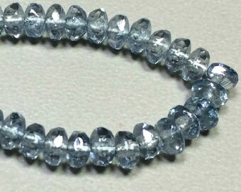 Premium Bohemian Czech  Light Denim Rondelle Beads 2x3mm
