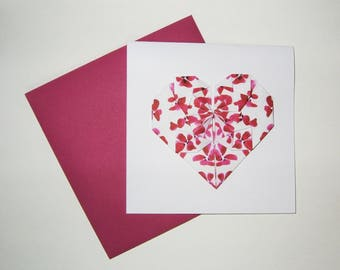"""Card """"Heart"""" quote n ° 2"""