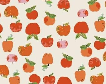 Heather Ross Kinder Fabric, Red Apples fabric, Windham Fabrics SKU 43483-2, half yard quilting cotton, fruit fabric, apple fabric