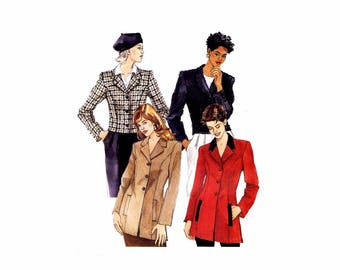 Misses Lined Jacket McCalls 7793 Sewing Pattern Size 12 - 14 - 16 Bust 34 - 36 - 38 UNCUT