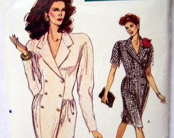 Vintage Vogue Dress Sewing Pattern 7272 Misses' Dress  Size 8-10-12 Bust 30-34 inches Complete and Uncut